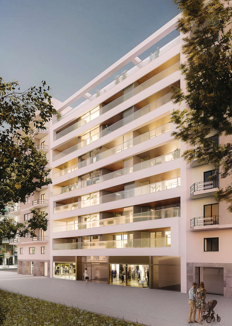 Edificio palau vive 365 d as al a o con vistas a los for Jardines del palau