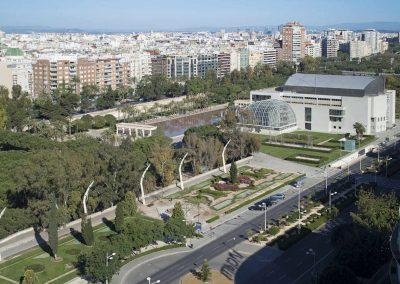Vistas a los jardines del Palau de la Música